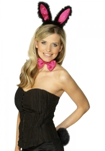 Hen Night Bunny Set -black & pink