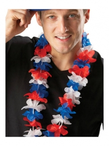 Union Jack hawaiian leis fancy dress accessory