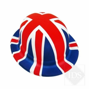Union Jack bowler hat fancy dress accessory