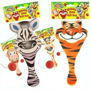 Children's wooden Zoo animal bif bat toy, party bag filler