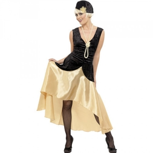 Ladies 1920's Gatsby Girl/ Flapper Fancy Dress Costume