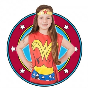 Childrens Superhero DC Comics Wonder Woman Fancy Dress Party Pack Kit
