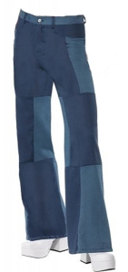 70's Mens Patchwork Flares