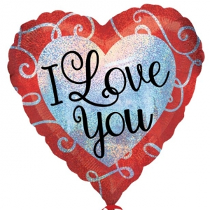 "Valentines Day Sparkle Heart ""I Love You"" Balloon"