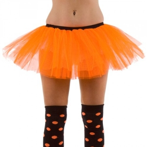 1980's Fancy Dress Neon Orange Layered Tutu skirt