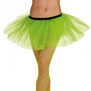1980's Fancy Dress Neon Green Layerd Tutu Skirt