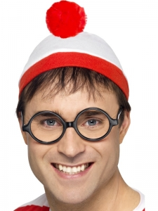 Where's Wally Fancy Dress hat and glasses set