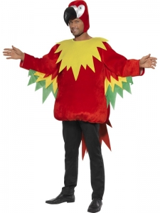 Mens parrot costume Fancy Dress Costume STD