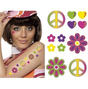 Gay pride/ carnival colourful pattern fancy dress tattoo transfer's