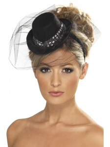 Fever Mini Bowler Top Hat -Black