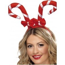 Christmas candy cane on a Headband