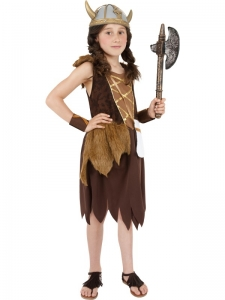 Girls Budget Viking Costume