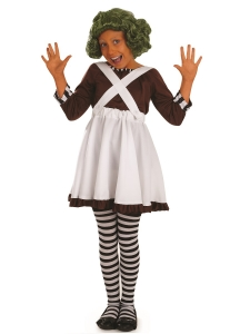 Girls Oompa Loompa Factory Worker Costume