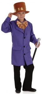 Kids Willy Wonka Factory owner costume