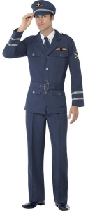 War time Air Force Captain Fancy Dress Costume