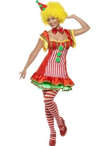 Ladies Boo Boo The Clown Fancy Dress Costume