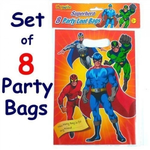Birthday party super hero loot bag 8 pack