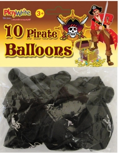 10 pack pirate party balloons