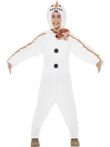 All In One Boys Snowman Costume