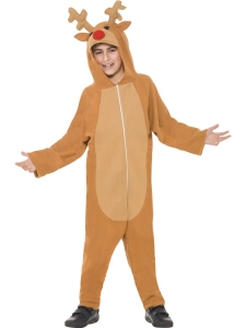 All In One Boys Reindeer Costume