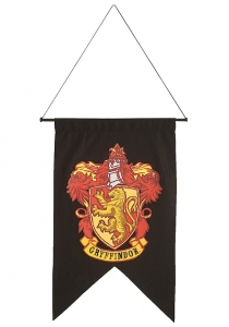 Official Harry Potter Gryffindor House Wall Banner Flag Fancy Dress Accessory Decoration