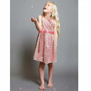Girls Party Dress Disney Boutique Aurora Sleeping Beauty Pink And Gold Sequin