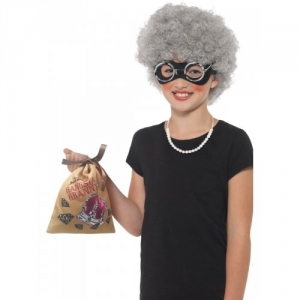 Children's David Walliams Deluxe Gangsta Granny Instant Kit Fancy Dress World Book Day Accessory