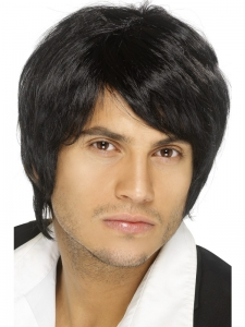 Black Boy Band Wig