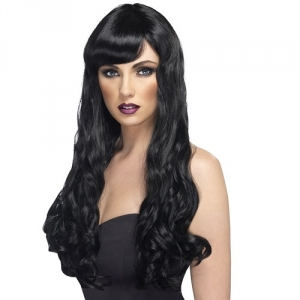 Ladies long Black desire Wig