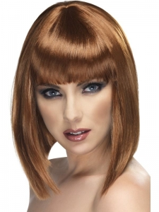 Brown Glamour short Wig with fringe