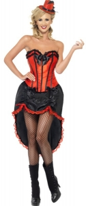 Red and Black Burlesque Dancer Costume