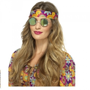 Hippy Flower Glasses