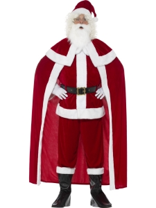 Mens Santa Father Christmas Deluxe Christmas Fancy Dress Costume
