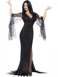 Ladies Halloween immortal soul dress Morticia