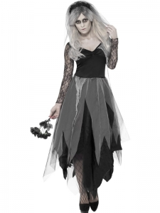 Ladies Halloween graveyard bride dress