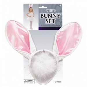 Bunny/ Rabbit head band and tail set unisex one size