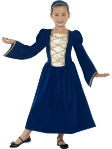 Tudor Girl  Princess Costume Blue