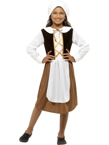 Tudor Girl Brown Costume