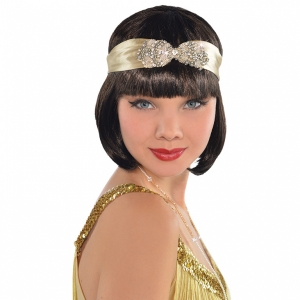 Roaring '20s Champagne Flapper Ladies Headband gold