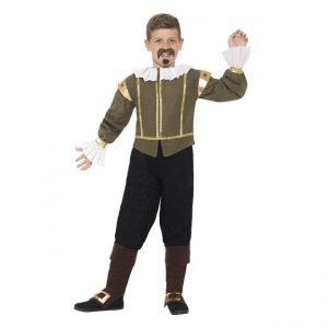 Boys William Shakespeare Tudor Fancy Dress Costume