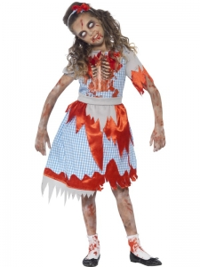 Girls Fancy Dress Costume - Halloween zombie country girl