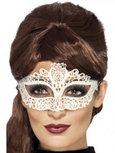 Lace embroidered white Masquerade Eye Mask