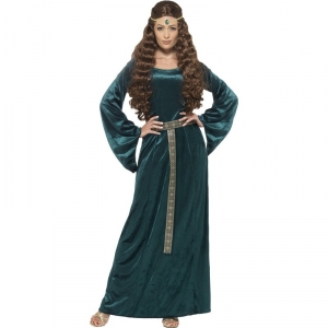 Ladies Medieval Maiden Tales of Old England Green Dress