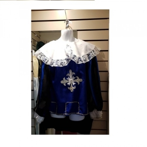 Mens Historical Navy Blue Knight Hire Costume