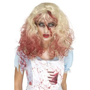 Halloween Fancy Dress Zombie Bloody Alice Wig