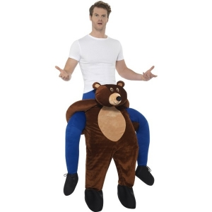 Mens / Ladies Adult Piggy Back Bear Teddy Bear Fancy Dress Costume