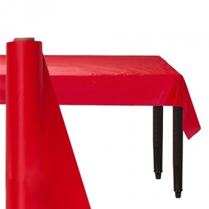 Giant Apple Red Party Banqueting Table Roll Cover Plastic 30 metre x 1.1 metre