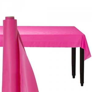 Giant Bright Pink Party Banqueting Table Roll Cover Plastic 30 metre x 1.1 metre