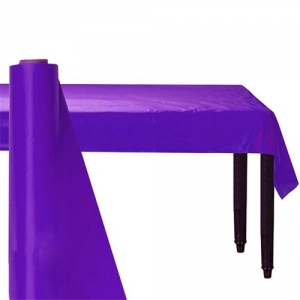 Giant Purple Party Banqueting Table Roll Cover Plastic 30 metre x 1.1 metre