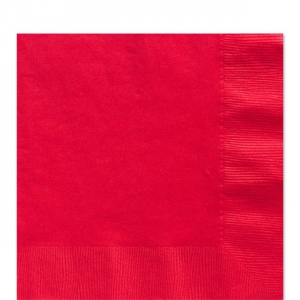 50 Pack Apple Red Luncheon Napkins 33cm Square 2ply Paper
